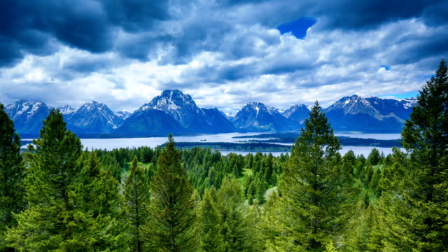 clouds over the tetons - grand teton national park stock videos & royalty-free footage