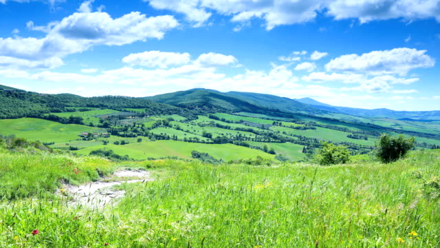 clouds over val d'orcia - tuscany stock videos & royalty-free footage