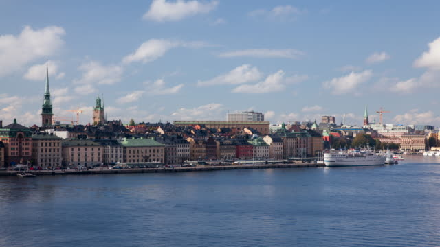 Clouds pass over Gamla Stan
