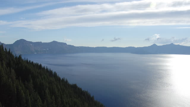 ha ws tl clouds passing over crater lake/ crater lake national park, oregon - crater lake oregon stock videos & royalty-free footage