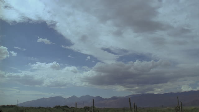 t/l, ws, clouds passing over desert - 1995 stock videos & royalty-free footage