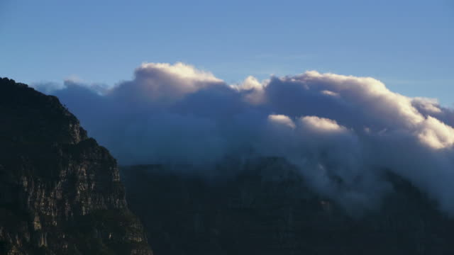 Clouds Pouring over Table Top Mountains