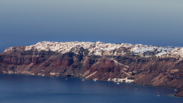 clouds racing over oia 1 - oia santorini stock videos & royalty-free footage