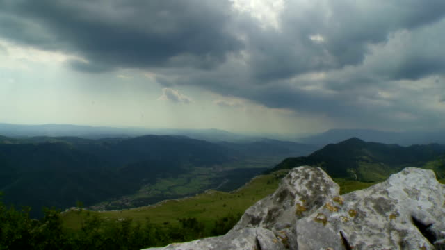 HD TIME LAPSE: Clouds Rolling Over The Valley