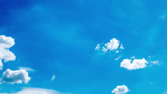 clouds running over sky - clear sky stock videos & royalty-free footage