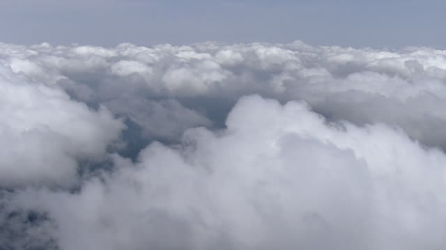 aerial, clouds shot from above, kyushu, japan - high up stock videos & royalty-free footage