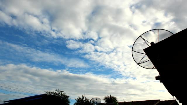 嵐雲と衛星 dishes.time lapse (低速度撮影) - ライトウェイト級点の映像素材/bロール