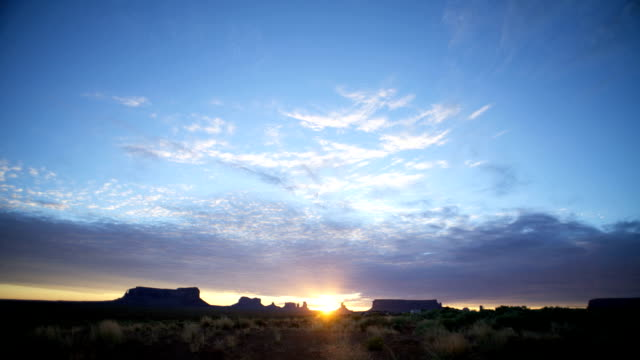 Clouds Sunrise Time Lapse at Monument Valley