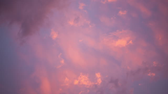 (4k) Clouds sunset time-lapse.