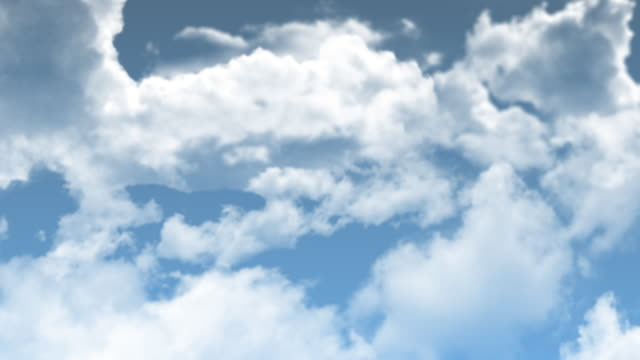 clouds through the heaven, seamless loop - cloudscape stock videos & royalty-free footage