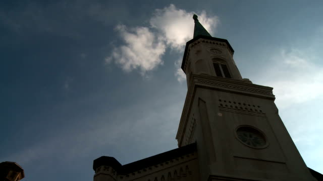 Clouds Time Lapse at Church