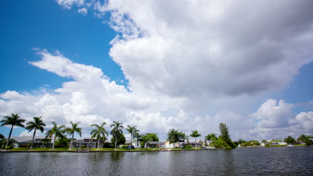 clouds time lapse. cape coral, florida - cape coral stock videos & royalty-free footage