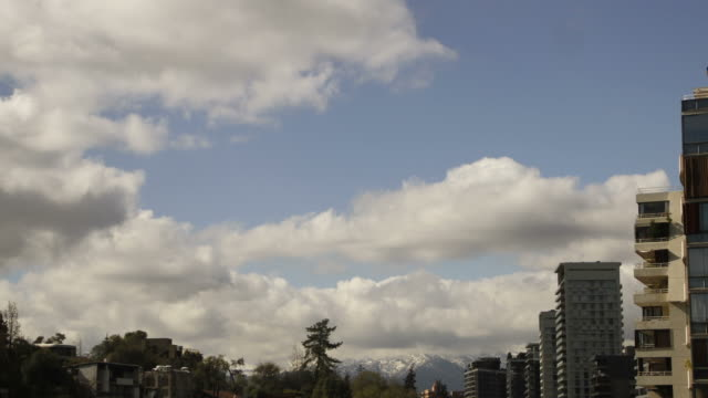 Clouds Time Lapse during winter in Santiago, Chile