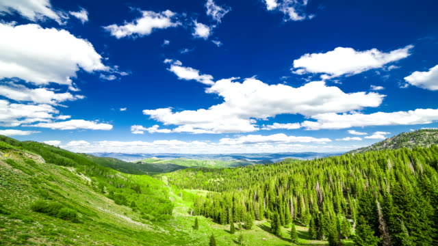 clouds time lapse - park city utah stock videos & royalty-free footage