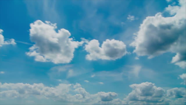 clouds - timelapse in full hd - altocumulus stock videos and b-roll footage