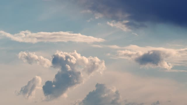 clouds timelapse part 1/3 - cumulus stock videos & royalty-free footage