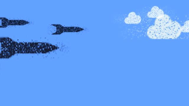 Misiles: nubes (transición)