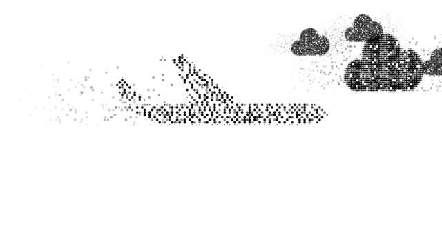 Avião: nuvens (transição)