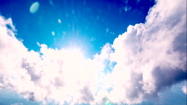 clouds with sun rays - stratocumulus stock videos and b-roll footage