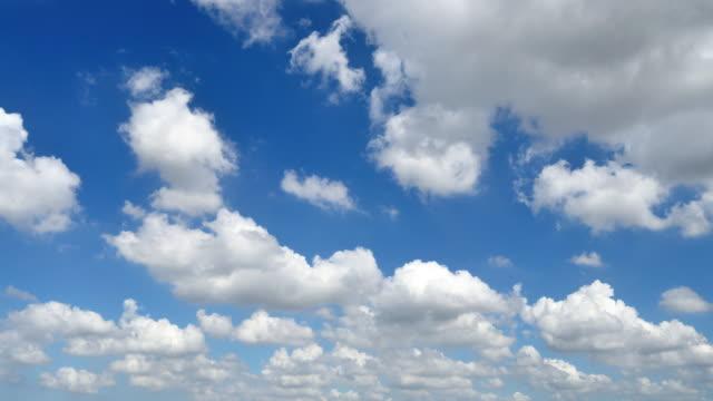 4k:タイムラプスで雲景と青空の背景 - side view点の映像素材/bロール