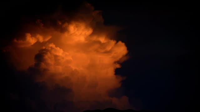 Wolkengebilde bei Sonnenuntergang bis verschwundene HD-Video