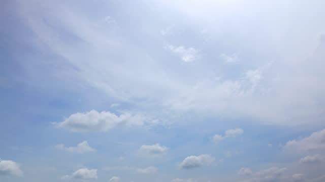 vídeos y material grabado en eventos de stock de fondo de cloudscape, lapso de tiempo - low angle view