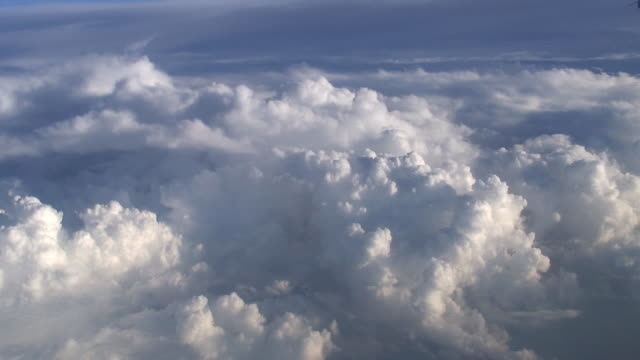 (hd1080i) cloudscape from above - stratocumulus stock videos and b-roll footage