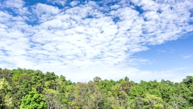 panorama di nuvole in movimento in montagna, time-lapse - mezzogiorno video stock e b–roll