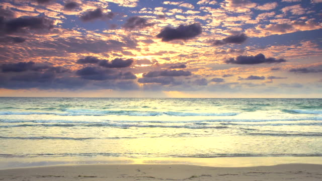 HD TIME LAPSE: Cloudscape On Florida Beach At Dawn