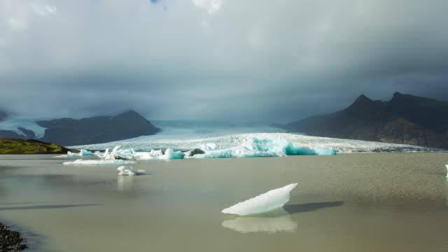 T/L Cloudscape over icebergs in Jokulsarlon lagoon