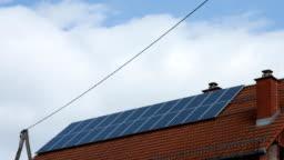 HD TIME-LAPSE: Cloudscape Over Solar Panels