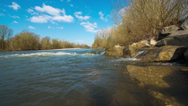 t/l 8k cloudscape over the mur river - prekmurje stock videos & royalty-free footage