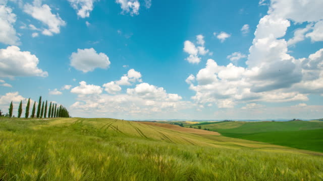 T/L 8K Cloudscape over Tuscany countryside