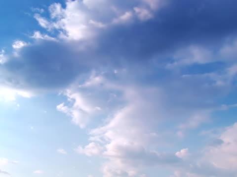 vídeos de stock, filmes e b-roll de cloudscape – parte 4 de quatro, intervalo de tempo - imagem tonalizada