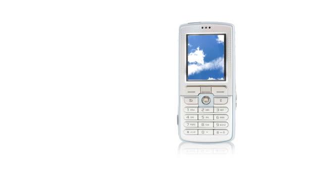 wolkengebilde telefon - blickwinkel der aufnahme stock-videos und b-roll-filmmaterial