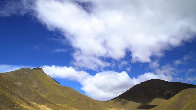 cloudscape photography southern alps open range new zealand - new zealand southern alps stock videos & royalty-free footage