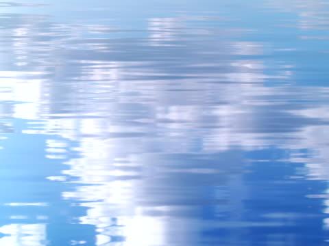 vídeos de stock, filmes e b-roll de cloudscape refletida na água ondas-ntsc - imagem tonalizada
