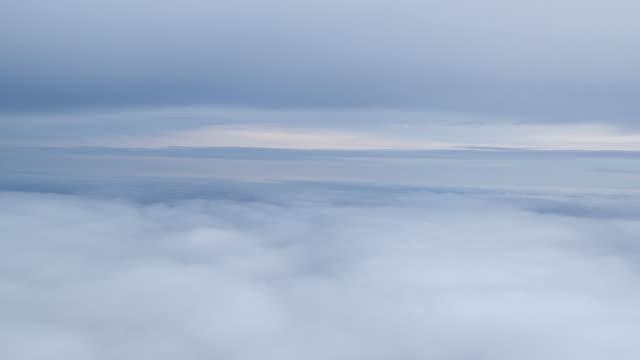 Cloudscape through aeroplane window