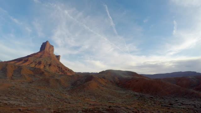 Cloudscape Timelapse of Mesa Rock Tower Near Moab, Utah