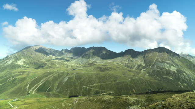 tl: cloudscape view on kühtai mountain in summer - north tirol stock videos & royalty-free footage