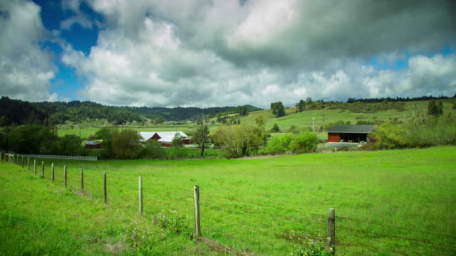 Cloudy Day on Farm - Time Lapse