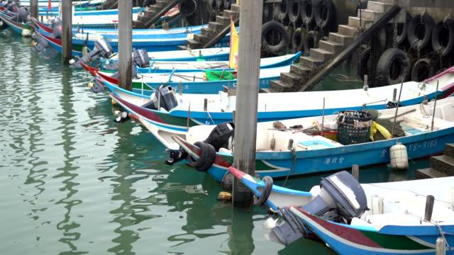 cloudy harbor port taipei, taiwan - taiwan stock videos & royalty-free footage