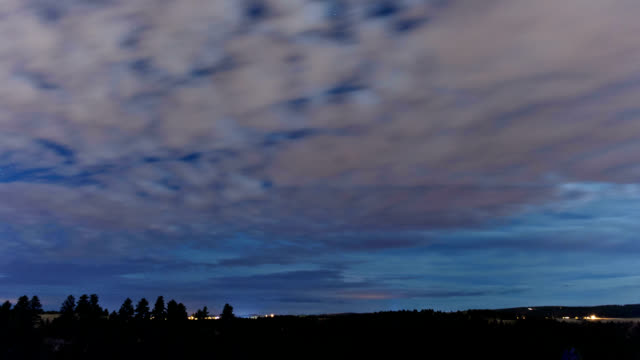 Cloudy night, timelapse