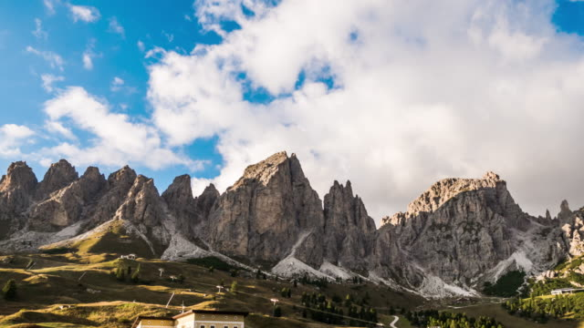 Cloudy over Mountains Dolomite italy ,time lapse