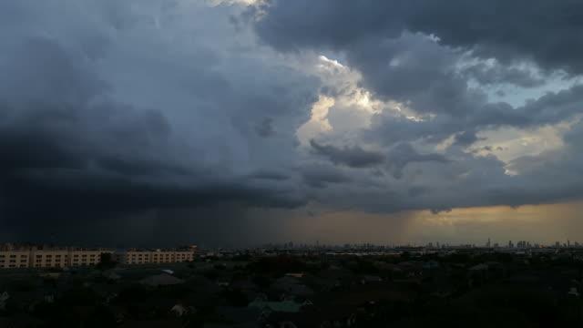 Cloudy rain timelapse.