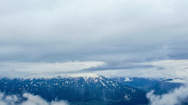 cloudy sky on the mountain at innsbruck - innsbruck stock videos and b-roll footage