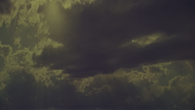 cloudy sky with lightning - thunderstorm stock videos & royalty-free footage