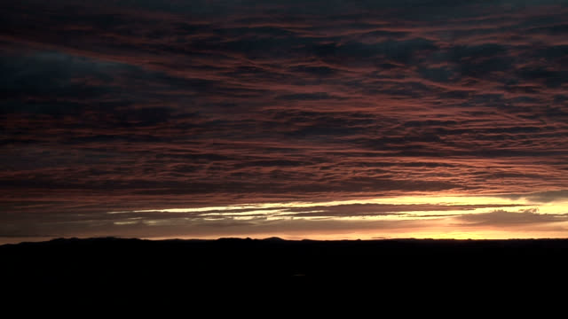 cloudy sunset, timelapse - altocumulus stock videos and b-roll footage