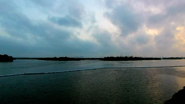 cloudy sunset timelapse - karachi stock videos & royalty-free footage