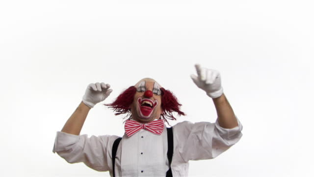 clown laugh .. - circus stock videos & royalty-free footage